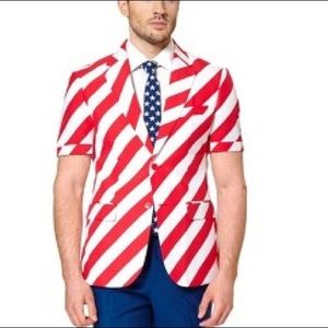 OppoSuits United States Stars Stripes 2 piece suit